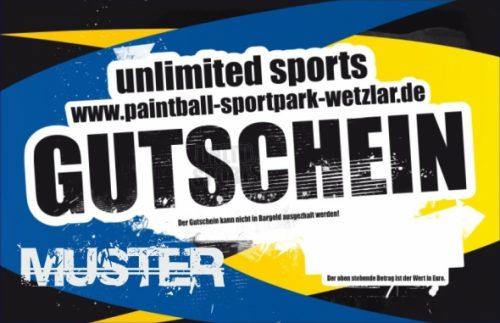unlimited sports - Paintball Sportpark Wetzlar - Gutschein